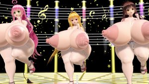MMD ToLoveる3人でPerfumeのSpring_of_Life more big ass and thicker legs ver.